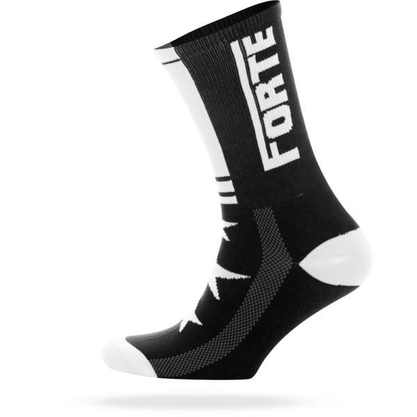 FORTE-Sock-black-white—cycling-sock—forte—35-38