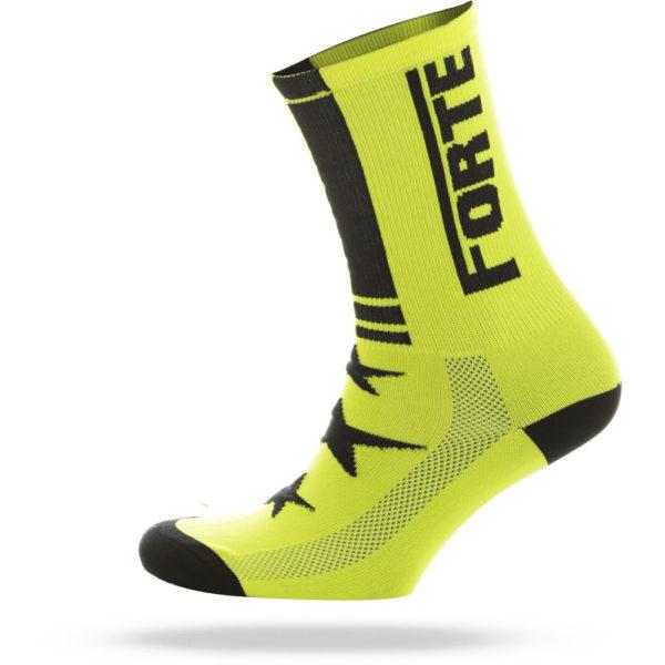 FORTE-Sock-yellow-black—cycling-sock—forte—35-38